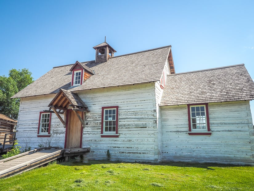 Old Catholic Mission at Heritage Village, one of the most popular places to visit in Fort McMurray