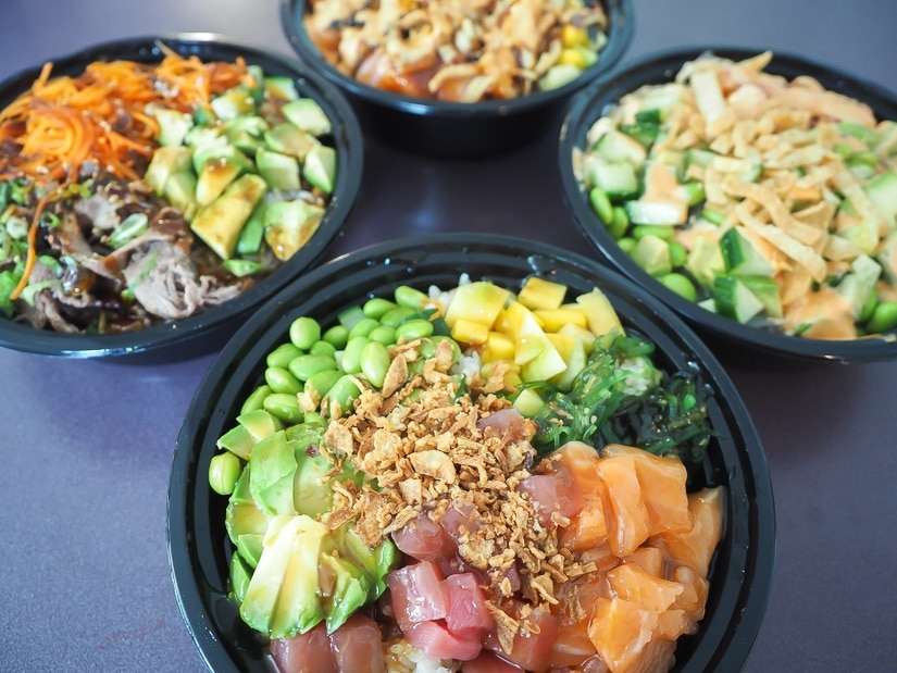 Poke Bowls at YMM Poke, one of the best restaurants in Fort McMurray