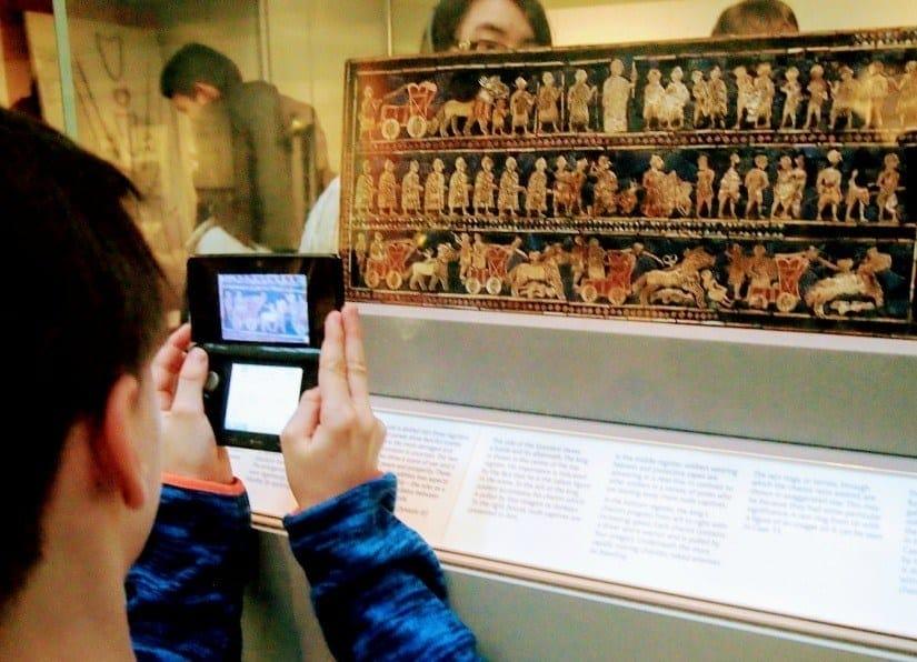 Homeschool History Field Trip British Museum, Standard of Ur
