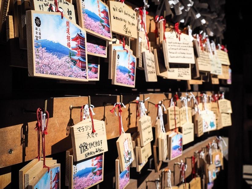 Prayers to Mt. Fuji at Arakura Sengen Shrine