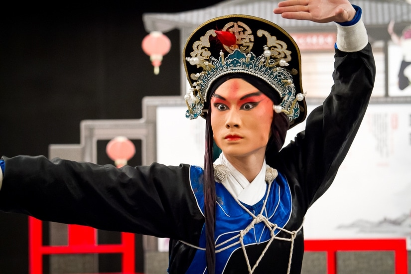 Traditional Chinese opera performance in Taipei