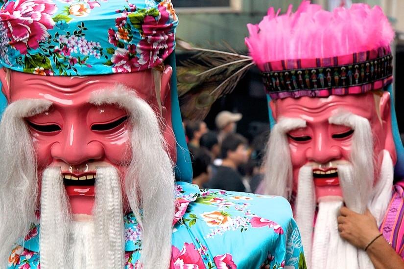 Xiahai City God birthday celebration in Dadaocheng, Taipei