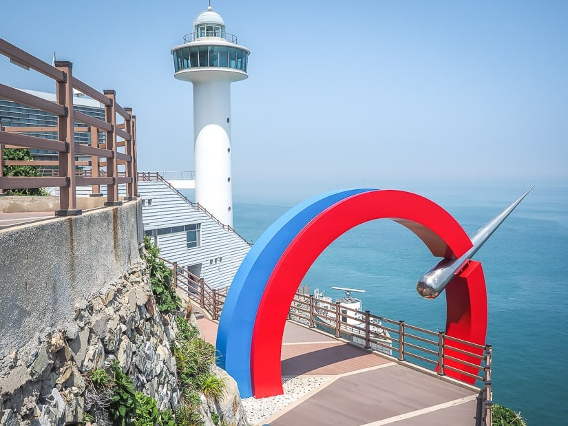 Lighthouse at Taejongdae Resort Park, one of the most popular tourist sights in Busan