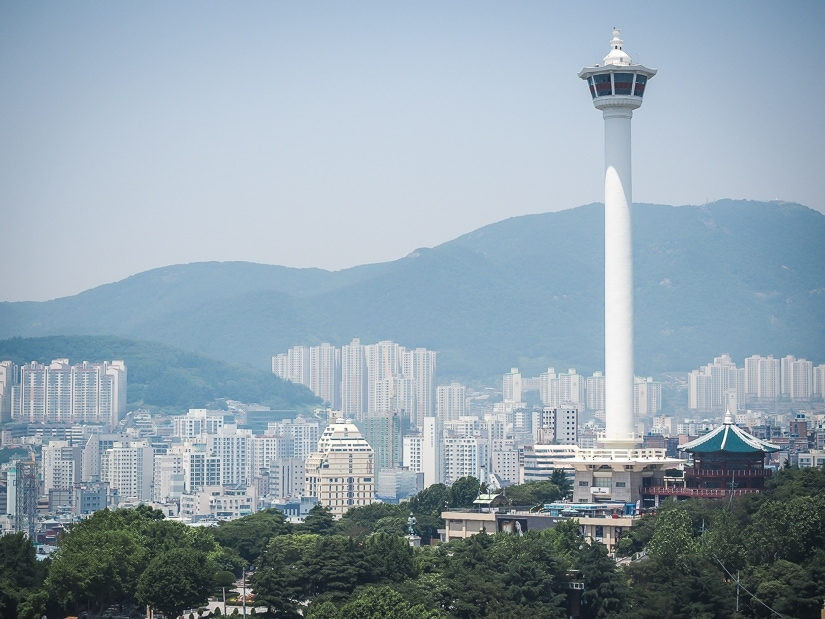 One of the best views of Busan, from Lotte Department store Gwangbokdong