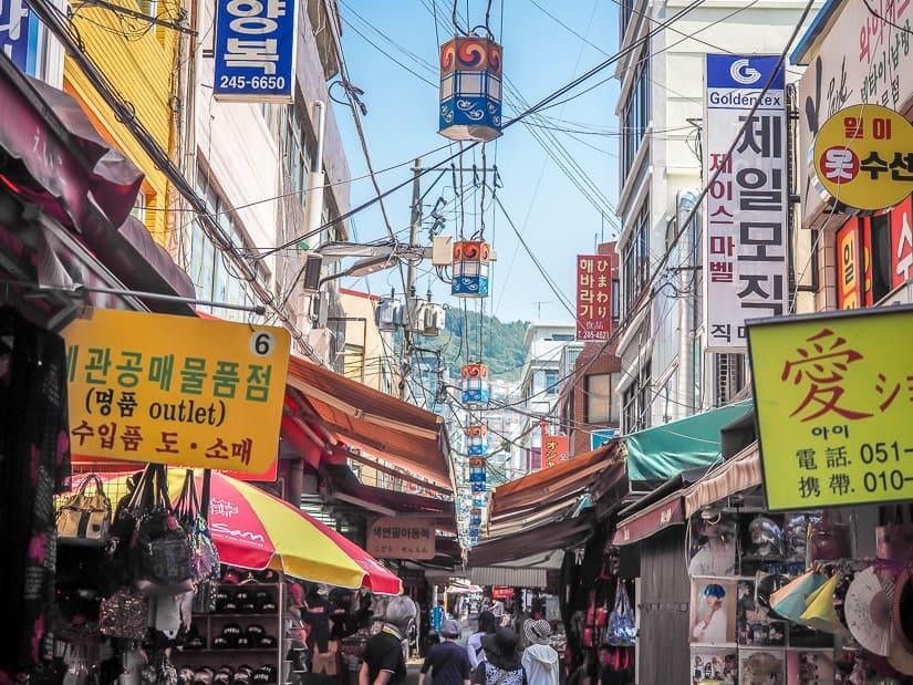 Gukje Market, the largest market in Busan and most popular market in Busan