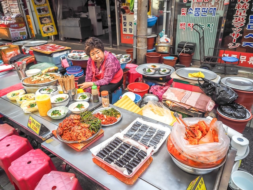Gwangbokdong food street, also known as Gukje Market Food Street. Don't miss this if you are spending 5 days in Busan!