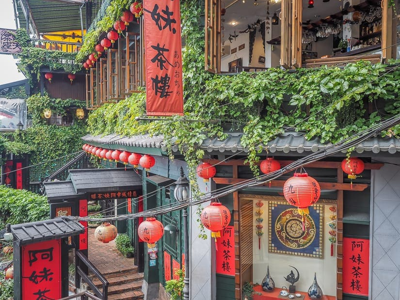 Jiufen, one of the most popular day trips from taipei