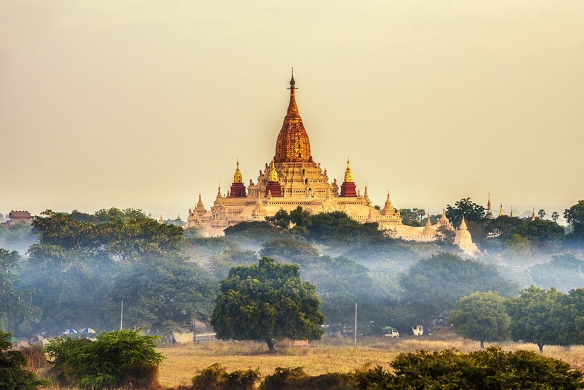 Ananda Temple, one of the most popular temples in Bagan, Burma