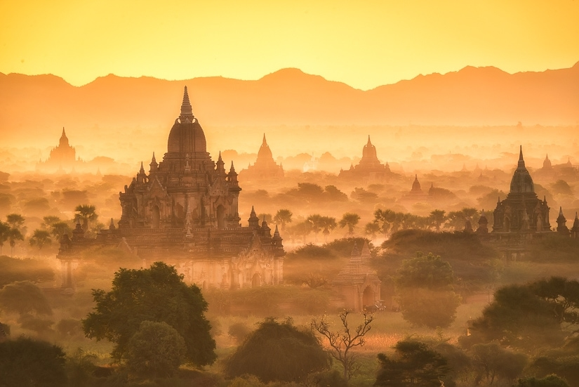 Bagan, where some Myanmar's most famous temples are located