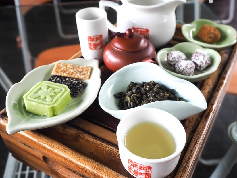 Tea set at A-Mei Teahouse in Jiufen