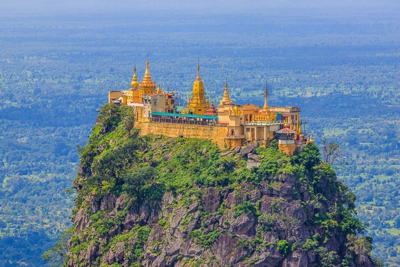 Mt. Popa, one of the most important religious sights in Myanmar
