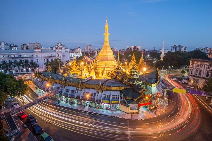 Sule Pagoda, one of the most beautiful temples in Burma