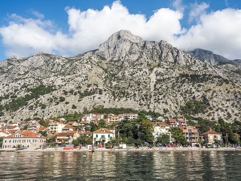 Kotor Beach viewed from the water
