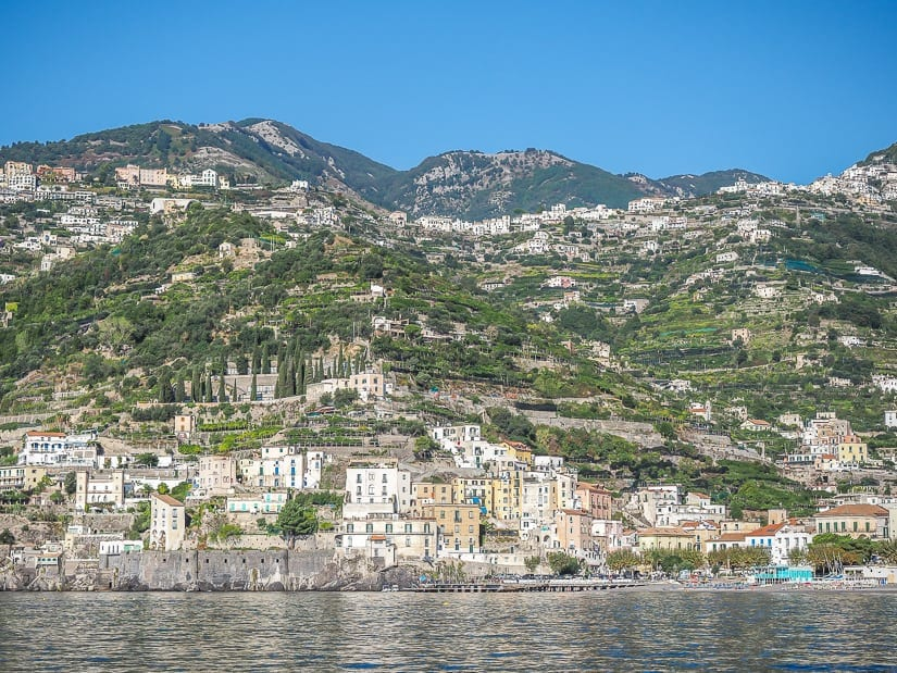 Minori, Amalfi Coast viewed from the sea