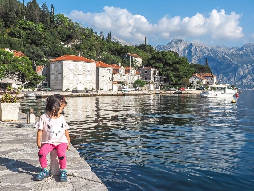 Visiting Perast with kids Montenegro