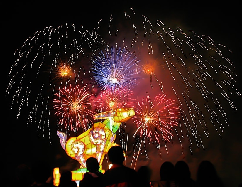 The main Taiwan Lantern Festival event, which takes place in a different city every year