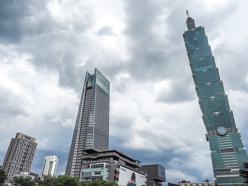 The cloudy Taipei weather in winter