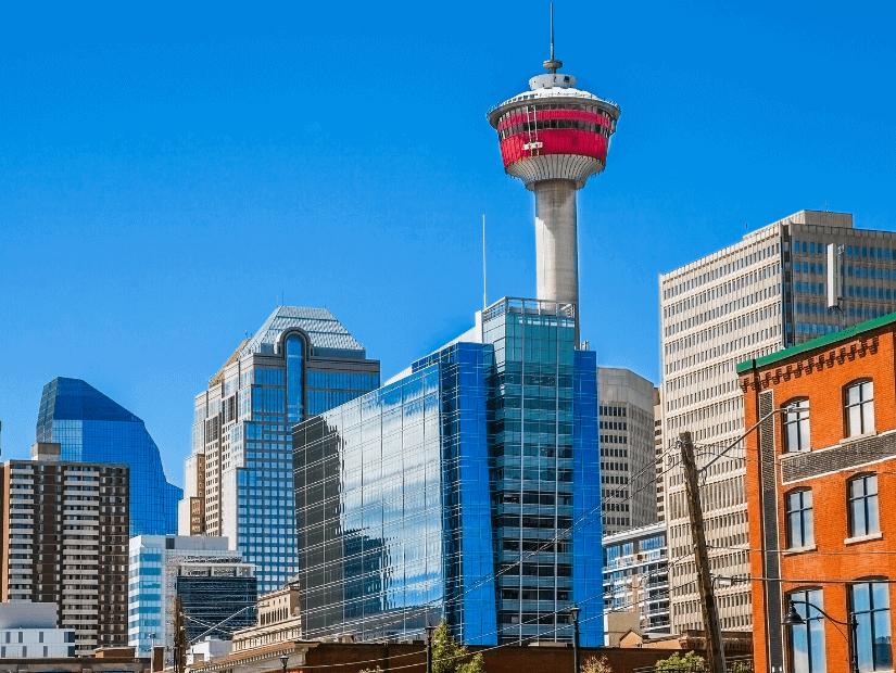 Calgary Tower in downtown Calgary