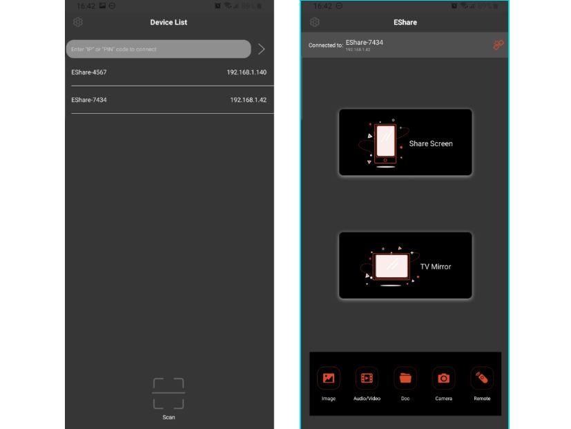 mirroring ecran tactile