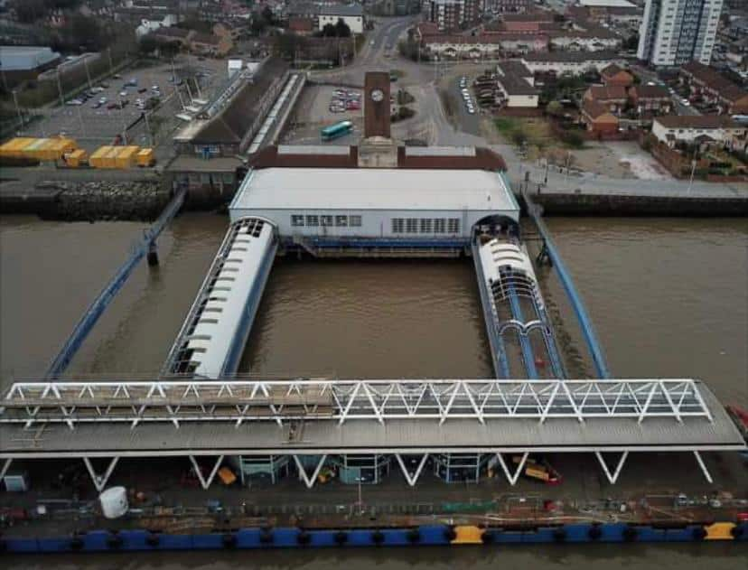Mersey ferry terminal revamp reveals well preserved historic anchors
