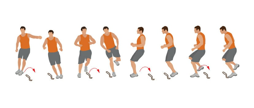 Obstacle Jumps Football Conditioning Drill