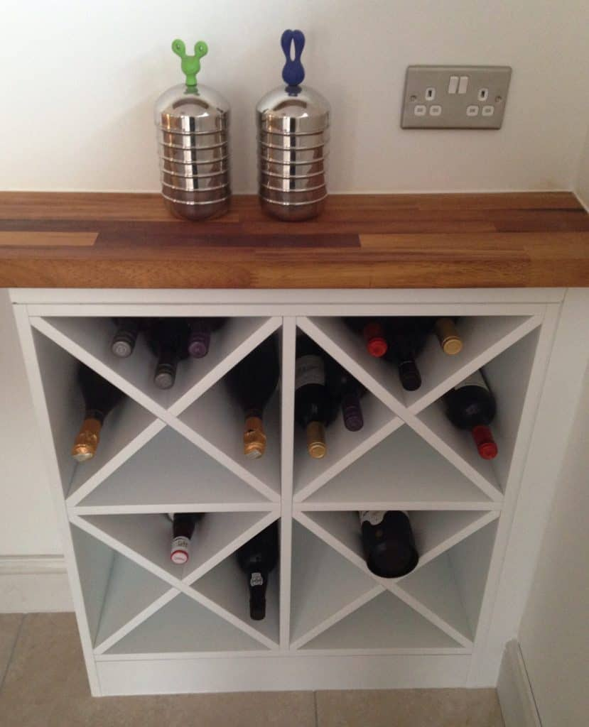 X-Shaped Wine Rack