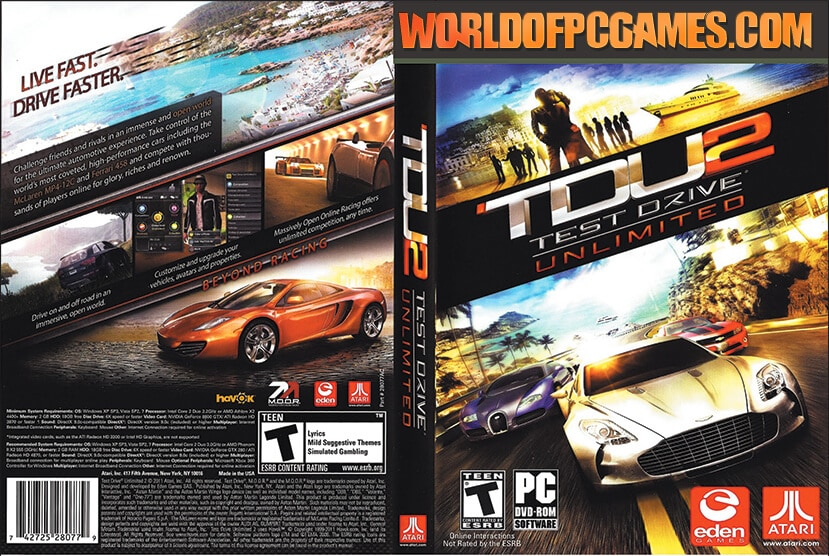 Test Drive Unlimited 2 Free Download PC Game By Worldofpcgames.com