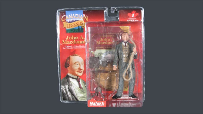 John A. Macdonald. Altered found object. 22 x 22 x 6cm. 2007. #1 edition of five