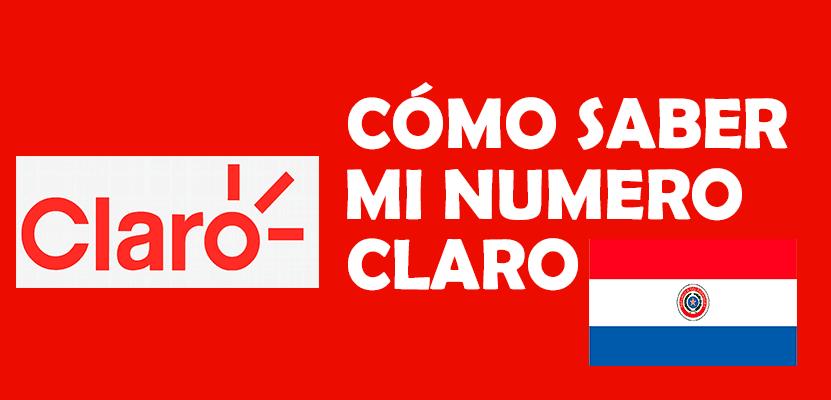 Como saber mi numero Claro Paraguay