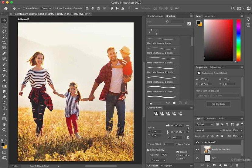 pantalla principal de adobe photoshop