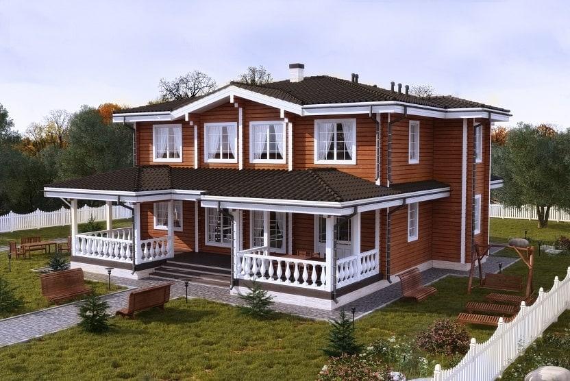 Архитектурные стили деревянных домов из клееного бруса