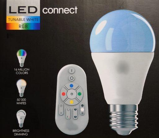 Imagen de bombilla led RGB con mando a distancia
