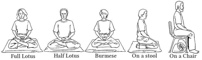 Meditation Düsseldorf Sitzhaltungen