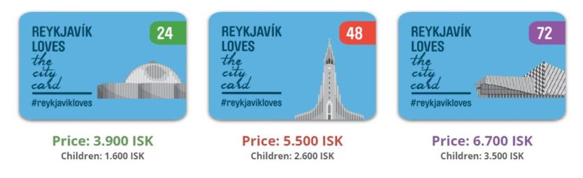reykjavik city card prices