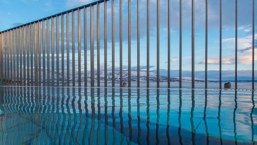 views from geothermal baths at laugarvatn fontana
