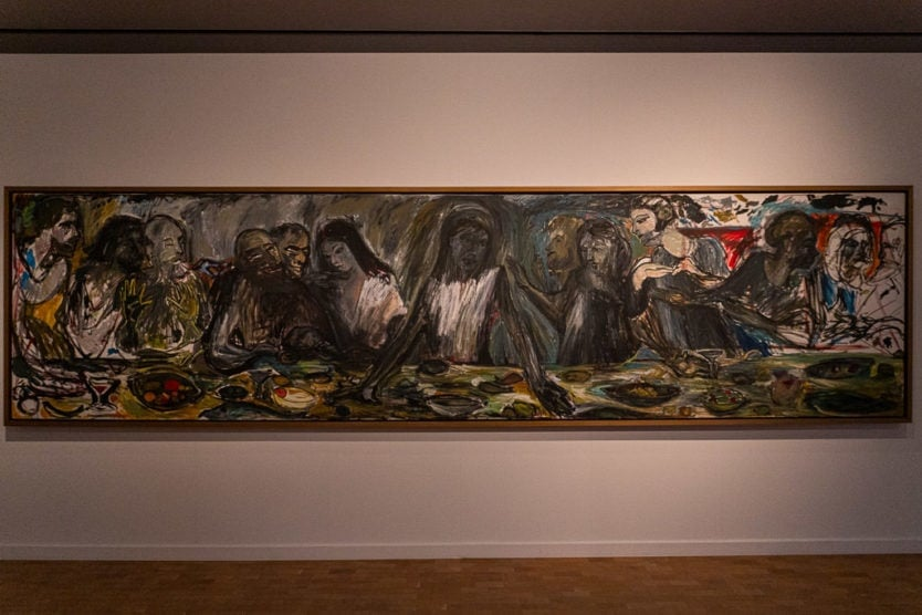 last supper rendition by Icelandic artist in the national gallery of Iceland