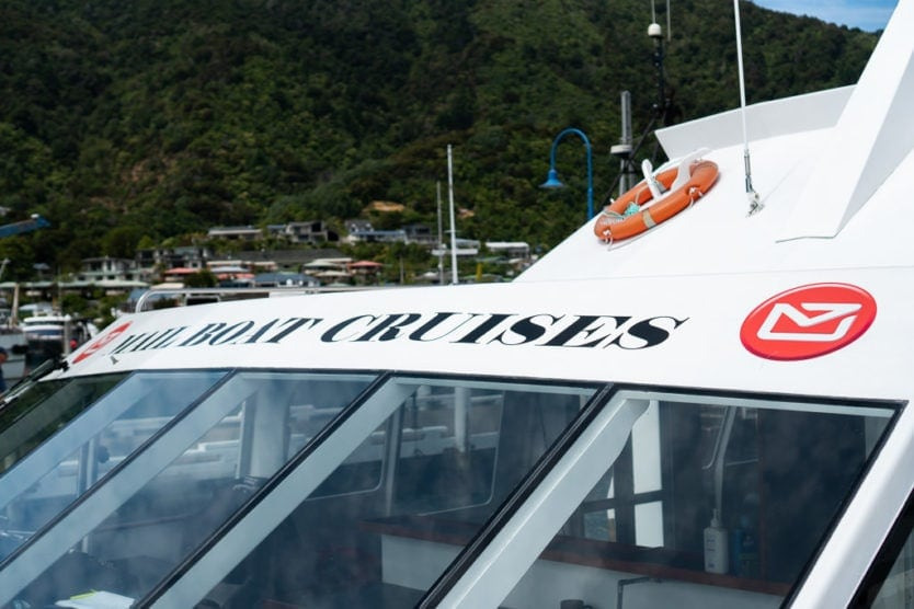queen charlotte sound mail boat cruise in picton new zealand