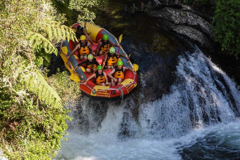 okere falls rotorua rafting with kaituna cascades