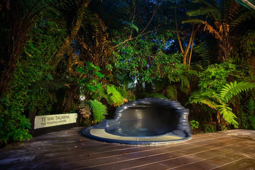 Te Wai Taurima (The Tending Waters) a private pool at the franz josef glacier hot pools a peaceful new zealand hot spring