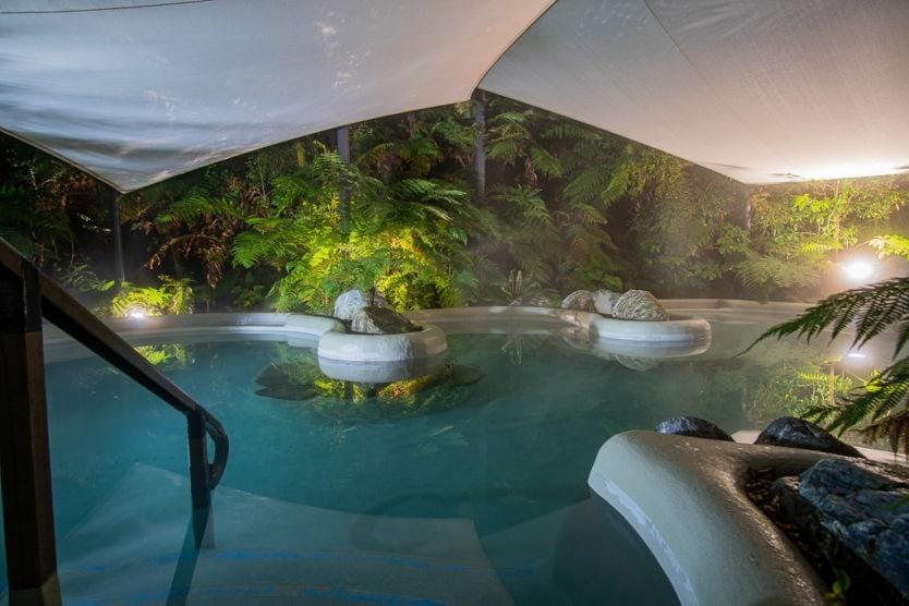 Public Hot Pool at Franz Josef Glacier Hot Pools - a great hot spring in new zealand