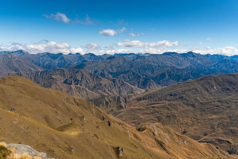 mountain views from atop coronet peak