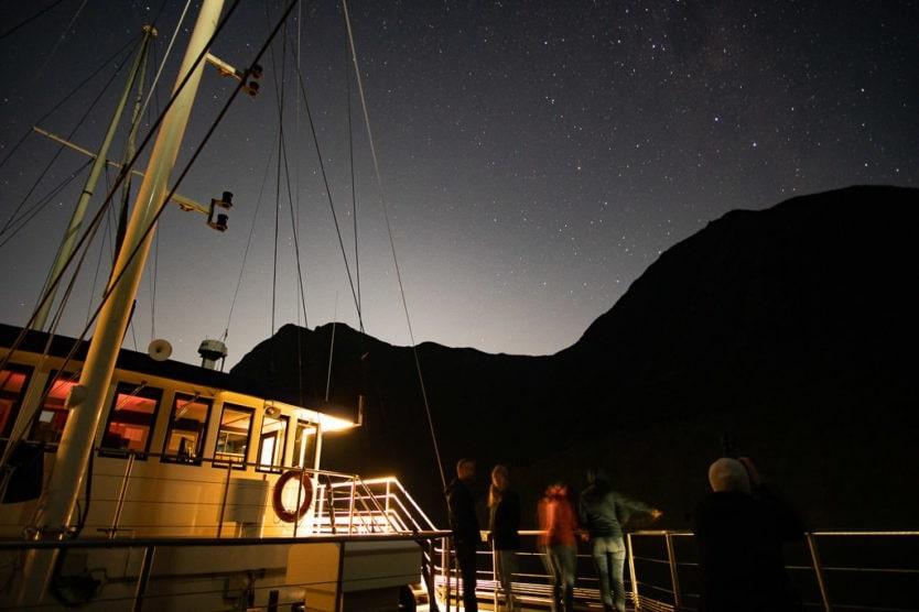 real journeys doubtful sound overnight cruise stargazing