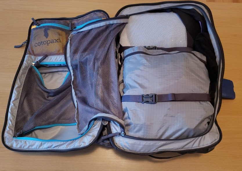 packing cotopaxi allpa 35l