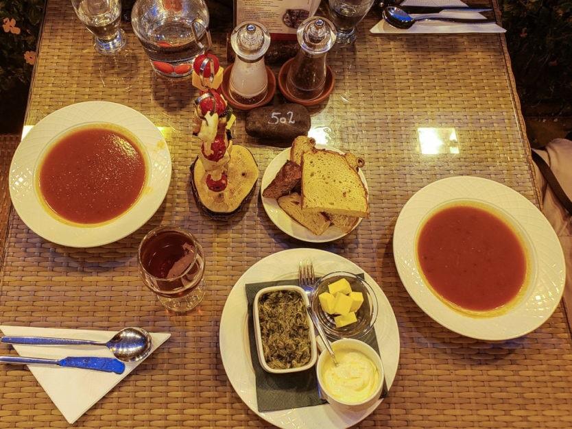 Friðheimar Greenhouse restaurant tomato soup in golden circle iceland
