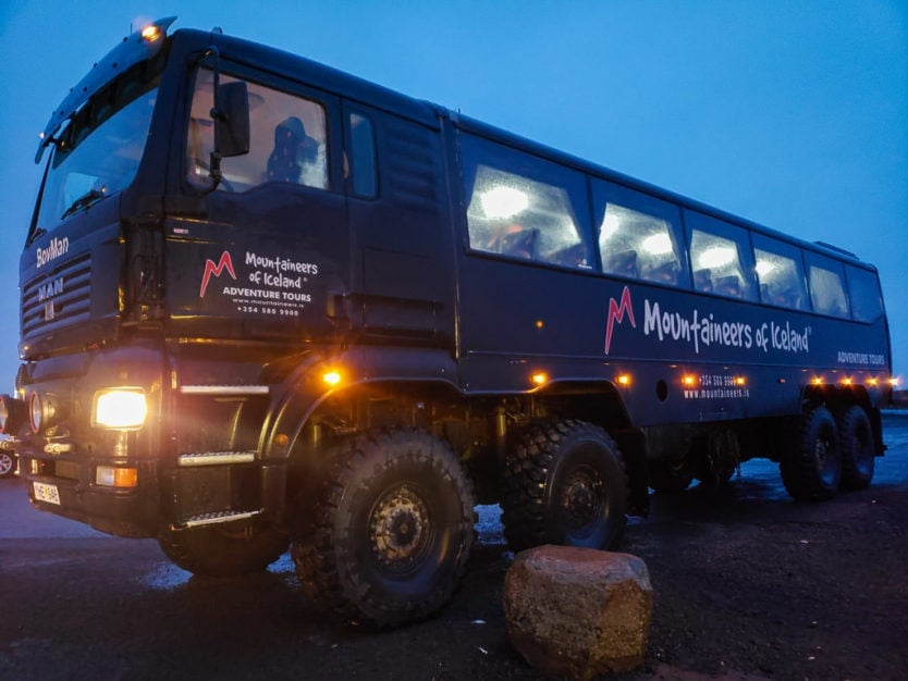 mountaineers of iceland monster truck bus