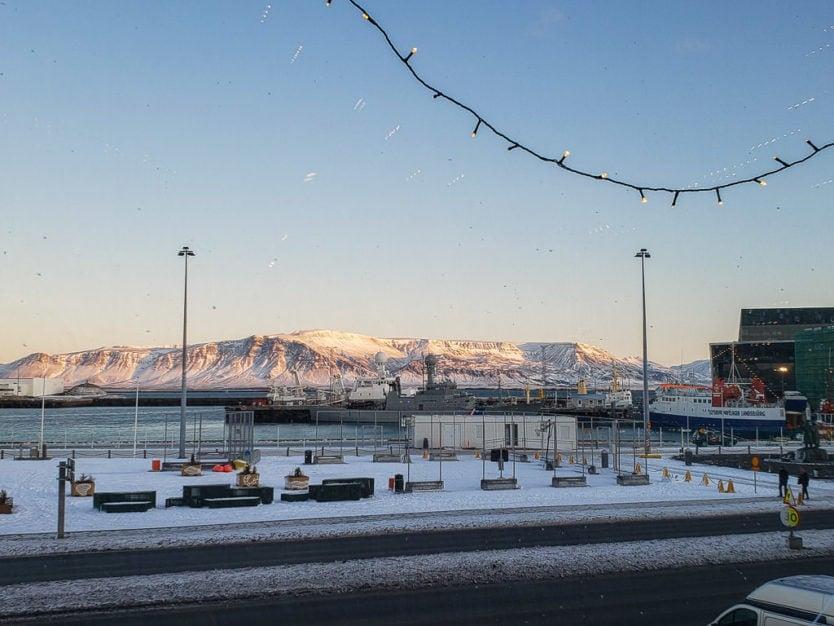 views of reykjavik harbor from Hafnarhús - Reykjavík Art Museum