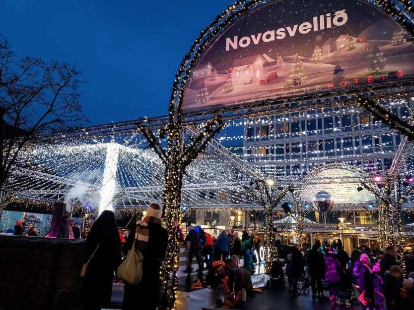 downtown reykjavik christmas markets ice skating
