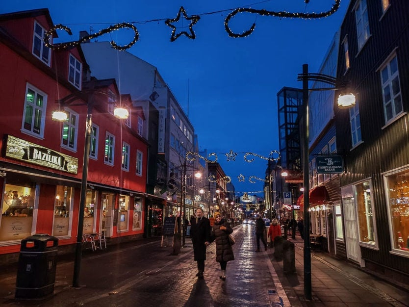 downtown reykjavik christmas markets   iceland christmas traditions