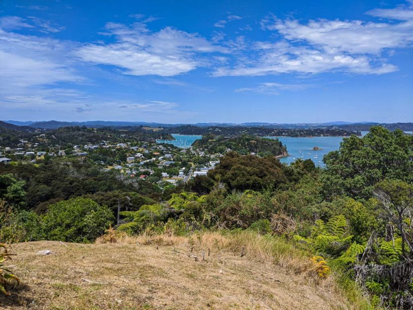 flagstaff hill views of Paihia from Russell