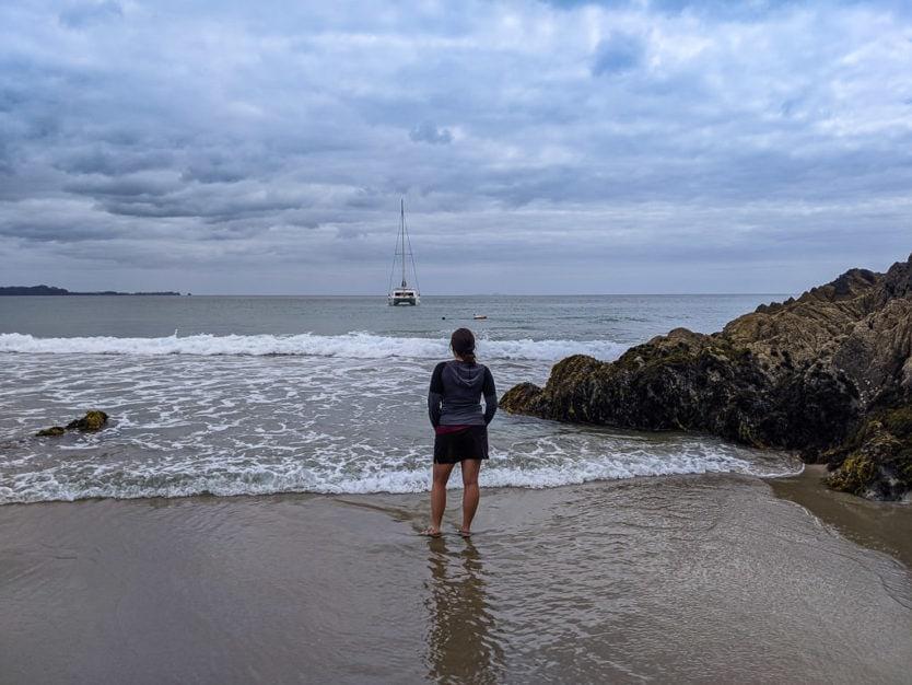 ocean beach in whangarei in northland new zealand